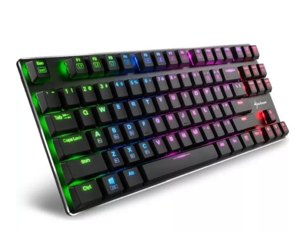 Sharkoon Tastatur PureWriter TKL RGB USB, DE Layout rot